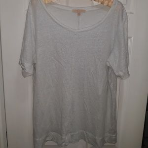 White shimmer top size 1X